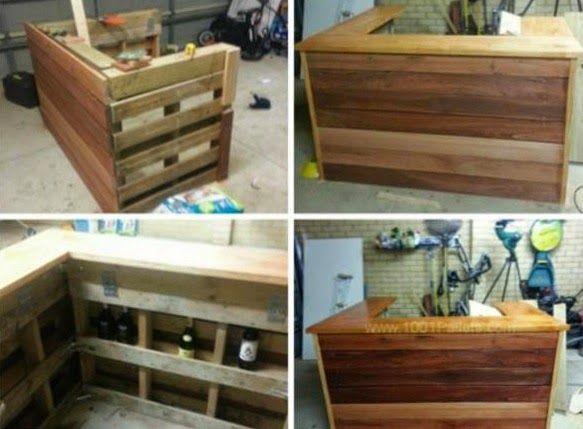 Mas Ideas para Reciclar Palets, Muebles Ecoresponsables  mostrador