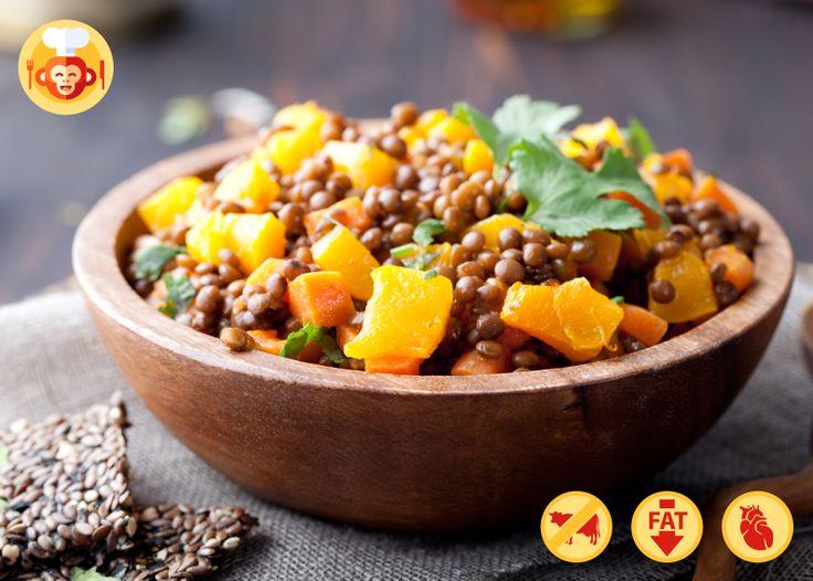 Detoxing vegetarian ragout with pumpkin and lentils.  #pumpkin #lentils #detox #vegetarian #diet #strongheart #lowfat #autumn #fall #bowl #wooden #food #love #best #foodporn #meal #lunch #dinner #table #ideas #recipe #foodmonkeys #healthy