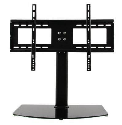 Fitueyes Universal TV Stand Base Wall Mount for up to 80 inch Flat screen Tvs/xbox One/tv Component Black 10mm black tempered glass,Capacity for shelf:143 lbs, 198 lbs for mount,50*100*1.5mm iron tube with cable management system to hide the messy cable The mount will fit most TVs from 50 to 80 inches in size and weight up to 198 pounds. To make sure this mount will fit insure your TV's VESA bolt pattern falls between these two sizes : 100(h)mm x 100(w)mm up to 500(h)mm x 800
