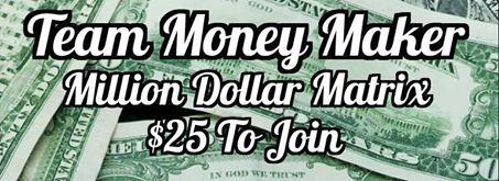 ✿´¯`*•.¸¸✿✿´¯`*•.¸¸✿ The Money Maker ✿´¯`*•.¸¸✿✿´¯`*•.¸¸✿ BRAND NEW SYSTEM JUST RELEASED THIS WEEK Millionaire 3x6 Forced Matrix, $25 to start, My Total Earnings $2825.00 this money is in my paypal already, TRULY AMAZING!!! Sign up here, http://www.teamoneymaker.com/?lormohova  and join our group here https://www.facebook.com/groups/721525197911891/