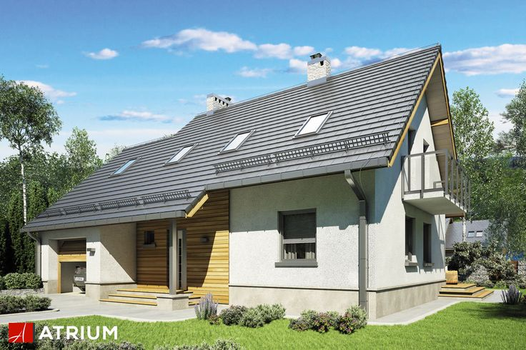 ROLEKS BIS II – projekt z serii Roleks z kotłownią na paliwo stałe. Grafitowa kolorystyka dachu, biel elewacji i drewniane akcenty wokół drzwi dają przyjemny dla oka efekt. Idealna propozycja dla marzących o niewielkim i mało kosztownym domu z kotłownią na paliwo stałe.