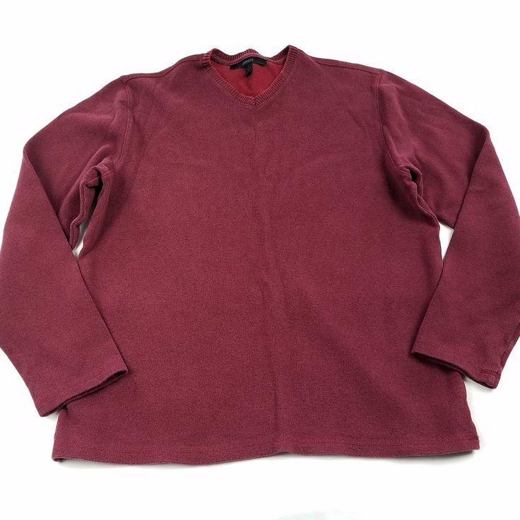 Express Mens Pullover Sweater Size XL Classic Fit Red Long Sleeve Shirt Crewneck #Express #Crewneck