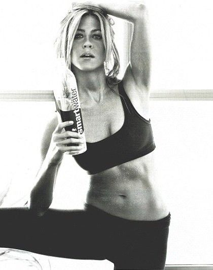 She's so fit!!: Girls Crushes, Jennifer Aniston, Dreams Body, Work Outs, Smart Water, Drinks, Weights Loss, Role Models, Jenniferaniston