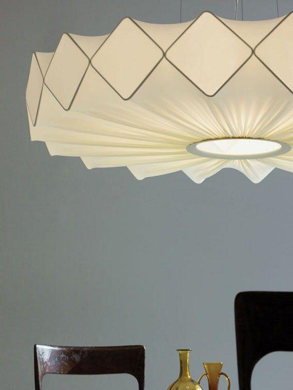 LUCENTE GRESY | Fabric pendant lamp