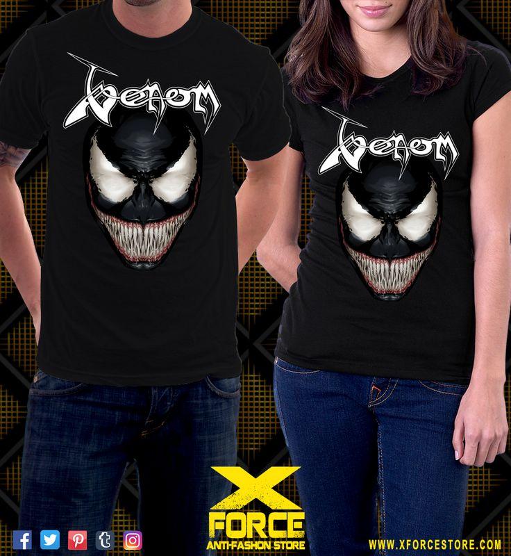 Camiseta Venom Black Metal Eddie Brock Homem Aranha