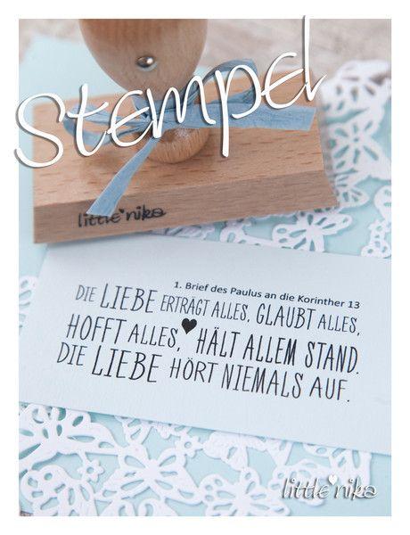 Einladungskarten - Stempel Hochzeit * DIE LIEBE... * XXL - ein Designerstück von littlenika bei DaWanda