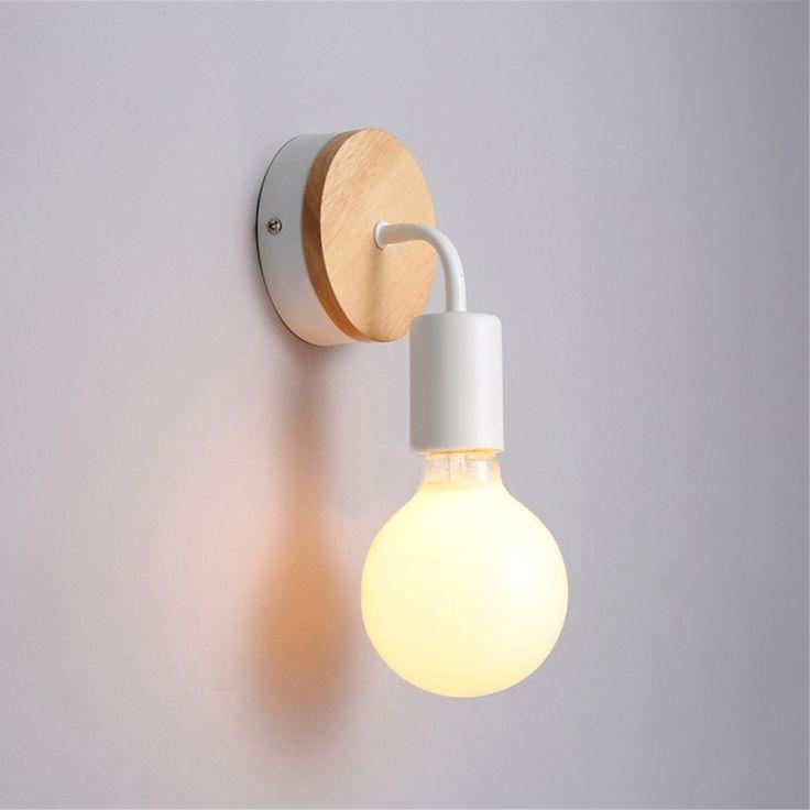 Applique Murale Bois Pas Cher : Pas cher Moderne ?clairage En Bois Mur Lampe Chambre cuisine Miroir