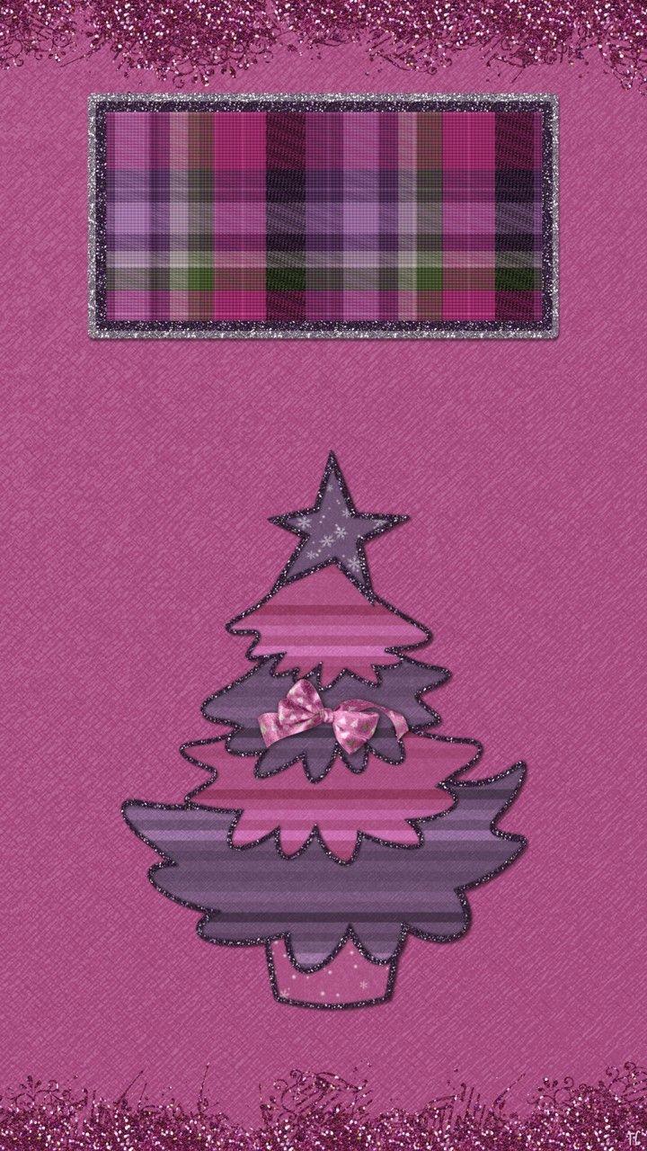 #purple #Christmas #wallpaper #plaid lock screen
