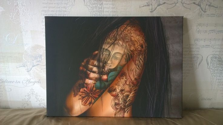 Stunning Tattoed Tribal Dancer Canvas Art.. large 55cms x 41cms available to buy on ebay   http://www.ebay.co.uk/itm/252847025725?ssPageName=STRK:MESELX:IT&_trksid=p3984.m1555.l2649