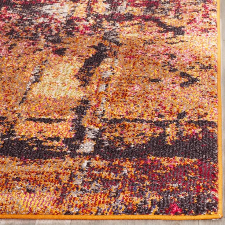Cabinwood Orange Area Rug