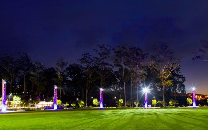 Robelle Domain Light Towers by Vee Design | Landscape Architecture | Master Planning | Urban Planning | Brisbane - Springfield Town Centre Parklands