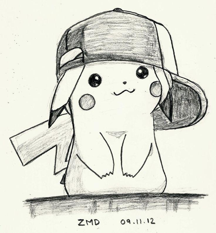 Pikachu con la gorra de Ash / Pikachu with the Ash's cap