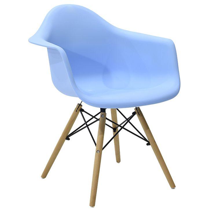 Propylene armchair Julita blue