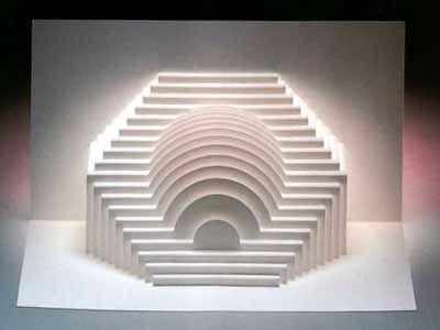 поп ап геометрическое киригами