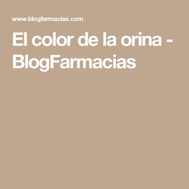 El color de la orina - BlogFarmacias