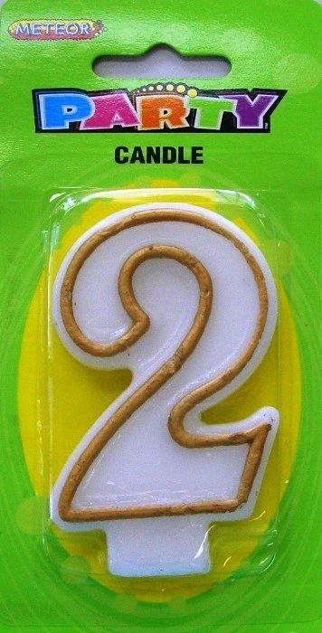 2nd Birthday Candle | Birthday Party Supplies | Birthday Party Decorations