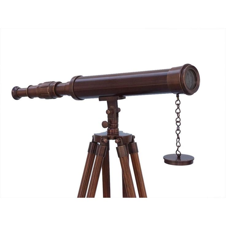 Floor Standing Antique Copper Harbor Master Telescope 50 inches