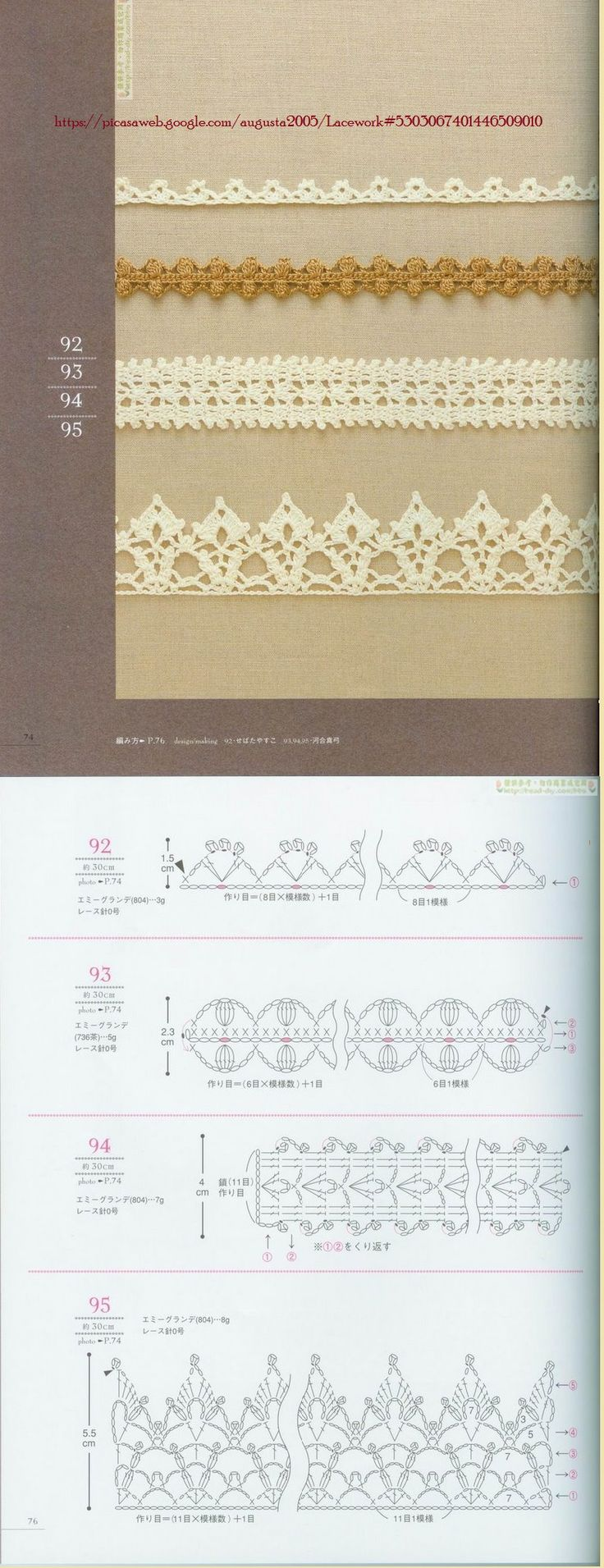 Crochet Lacework Edges Border Trim