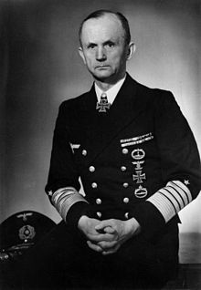 Karl Dönitz was a Grand Admiral in the German Navy during WW2, the most capable leader in all of Nazi Germany. He was the architect of U-boat warfare that brought England to its knees with just 28 subs. If Hitler had listened to him, Germany would most likely have won the war.  All American post war subs used his designs including our nuclear subs. After Hitler killed himself, he took over as the leader of Germany and formed the Flensburg government until he was arrested on May 23, 1945.