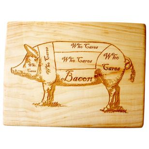 Contemporary Cutting Boards by Milk & Honey Luxuries - pig cutting board, bacon