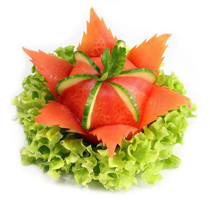 014. Darmowy kurs carvingu kwiat z pomidora / Free carving course tomato...