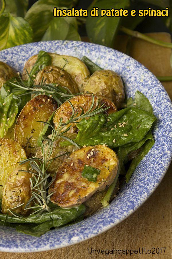 Insalata di patate arrosto e spinaci