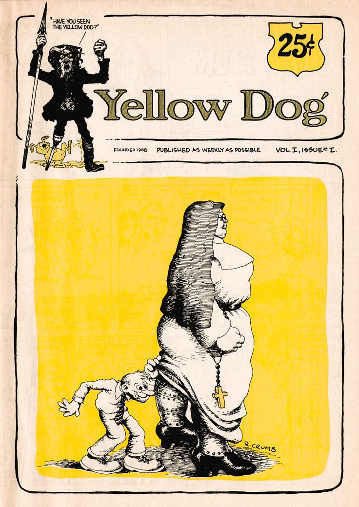 yellow dog 1 by robert crumb founded 1968