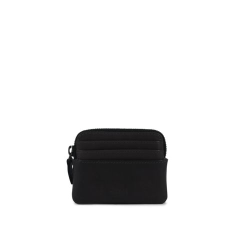 Frill  Credit Card Holder w/zip - Black