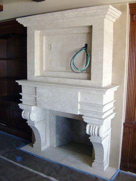 Столовая камин средиземноморского комнатных камины