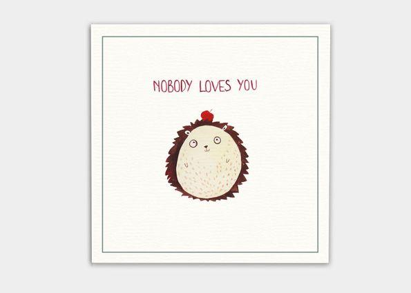 kaa illustrations unfreundliche postkarten für feinde niemand liebt dich