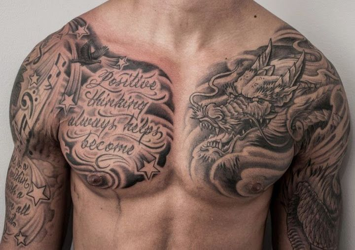 Top 10 Best Tattoo Designs For Men Cool Chest Tattoos Chest Tattoo Men Chest Tattoo
