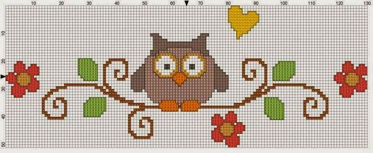 Χειροτεχνήματα: Σχέδια με κουκουβάγιες για κέντημα / Owl cross stitch patterns