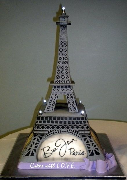 Eiffel Tower Cake .... Think FAB when you book your Paris themed party <3 PoshX3info@gmail.com