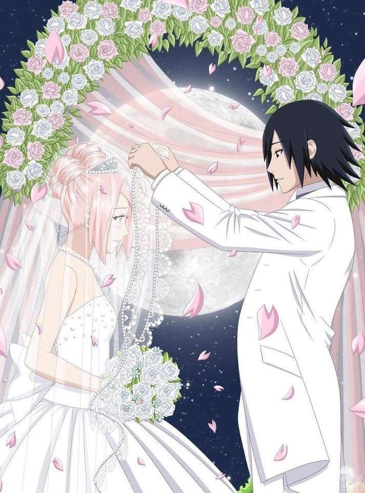 Sasuke and Sakura Wedding Beautiful Fanart ❤️❤️❤️
