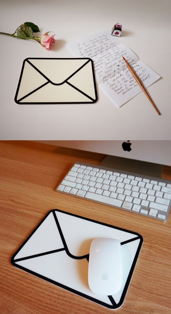 You've got mail! I can't get enough of this cute-ilicious envelope shaped mouse pad!