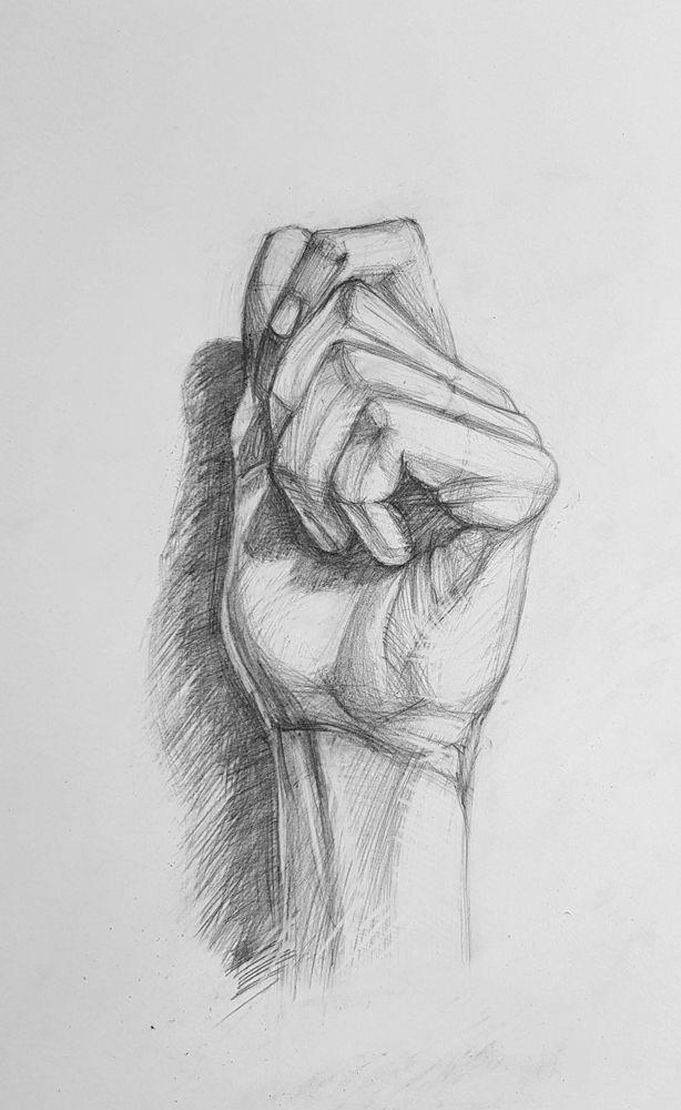 Части тела рисунок карандашом