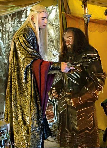 Thranduil and Thorin together again. :-)
