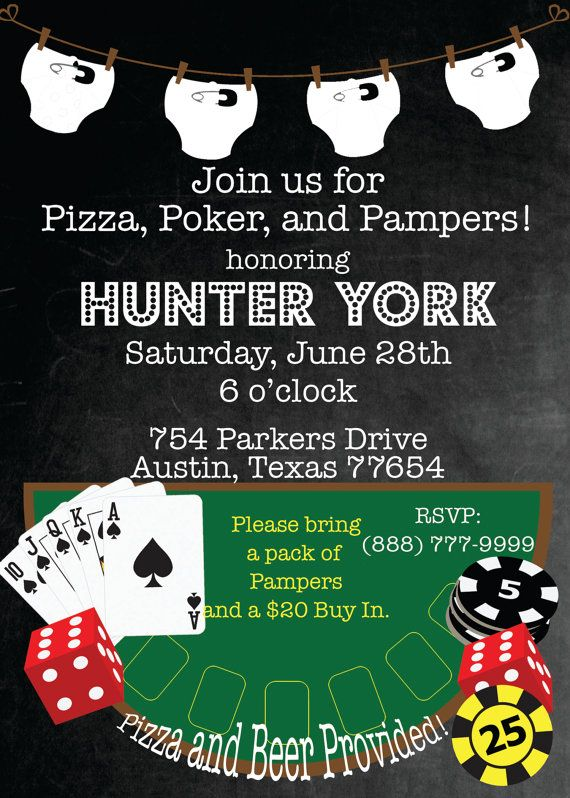 Poker and Pampers Shower Invitation by PumpkinSeedPaperie on Etsy