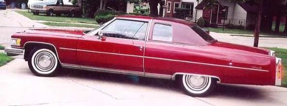 1975 Coupe DeVille Roxanna Red