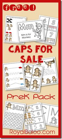 Caps For Sale Preschool Packs with Preschool Planning Page