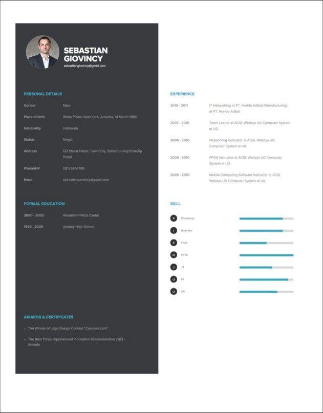 Resume CV at cuuveed.com Free