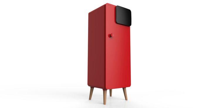 "Changhong ""Retro"" Office Refrigerator   Red Dot 21"