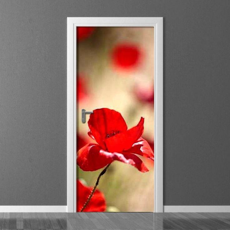Fototapeta na drzwi - Maki | Photograph wallpaper for doors - Poppies | 180PLN #drzwi  #dekoracja #maki #kwiaty #dom #mieszkanie #design #door_wallpaper #wallpaper #door_decor #home_decor #interior_decor #poppies #poppies_pattern #flowers