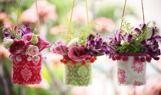 Vaso de Flores com Garrafa Pet