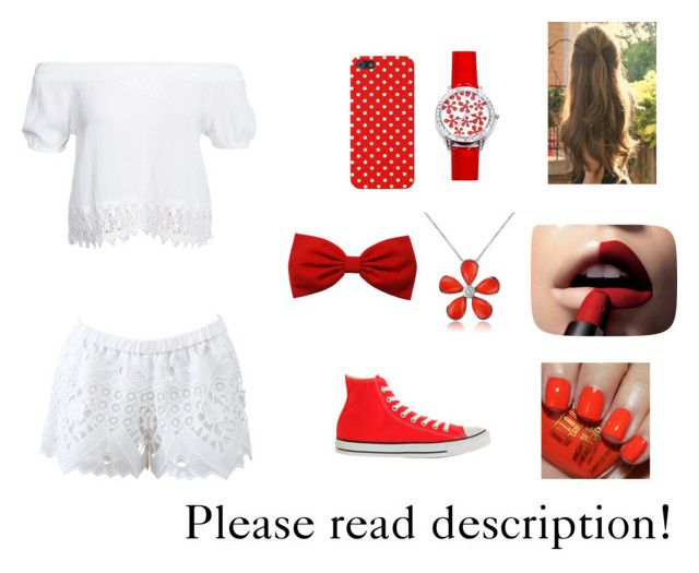 """""""Smell the red"""" by twinfreak101 on Polyvore featuring Alexis, Boohoo, L'Oréal Paris, Del Gatto and Converse"""