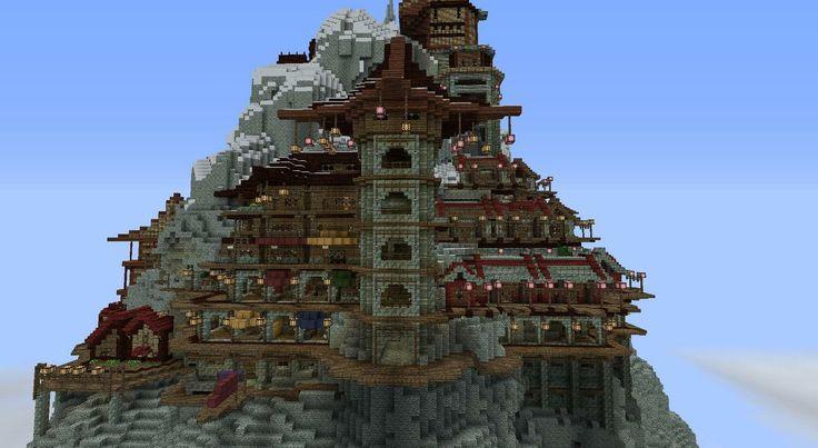 Wonderful Builds Oriental Style Mountain Sanctuary