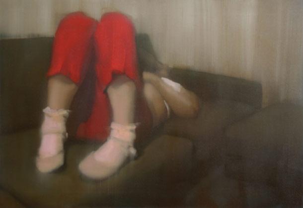 "Tiina Heiska, oilpainting from series ""Growing small"""