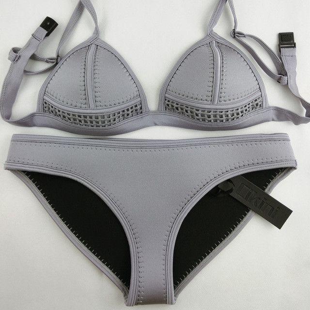 Neoprene Swimwear Women Bikini Woman New Summer 2016 Sexy Swimsuit Bath Suit Bikini set Bathsuit SC003 Cikini