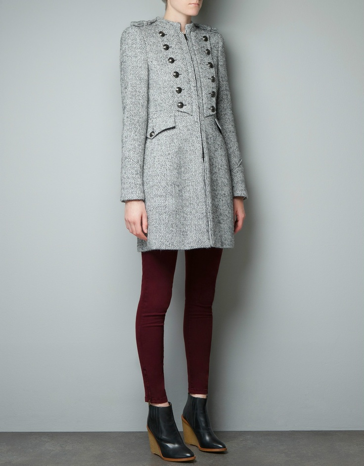 Women's gray tweed coat – Novelties of modern fashion photo blog