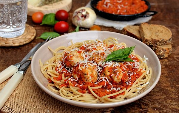 Skinny Spaghetti & Meatballs - honey & figs